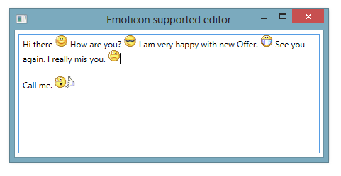 WPF RichTextBox supporting smileys