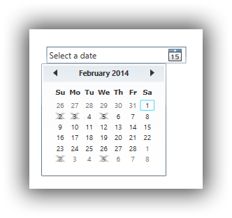 WPF DatePicker – BlackOutDates Data Binding
